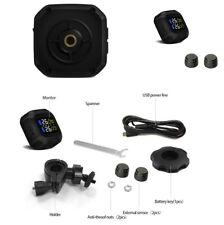 Motorcycle Tire Pressure Monitoring System TPMS USB Power LCD Display Waterproof