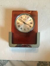 Vintage Mcm Bulova Smoke Acrylic Chrome Alarm Clock 2RA007 Japan