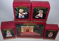 HALLMARK CHRISTMAS ORNAMENTS THE BEARINGERS OF VICTORIA CIRCLE 1993 WITH BOXES