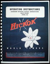 Hickok 535 Dynamic Mutual Conductance Tube Tester Manual