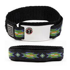 Safary Sport Medical Alert ID Bracelet  Emblem. Free wallet Card and  engraving!