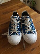 Converse All Star Women's Blue glitter trainers at size UK3 EU35.VGC