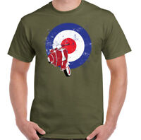 Distressed MOD Scooter Logo Mens Funny T-Shirt Vespa Lambretta Bike Retro