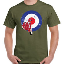 MOD Scooter T-Shirt Vespa Logo Mens Funny Bike Distressed Retro
