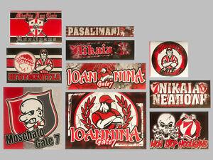 10x Olympiacos Stickers Ultras Gate 7 Olympiakos Tiffosi Fanatics collectors #1