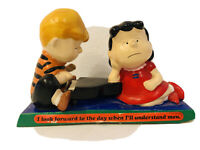 Vintage 1971 Peanuts United Feature Syndicate Figurine SCHROEDER & LUCY ON PIANO