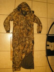 FIELD and STREAM Advantage Timber Camo Insulated Winter Hunting Coveralls Medium