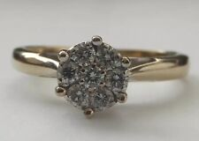 18k Gold Diamond Daisy Cluster Ring