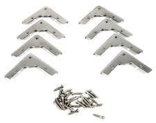 8pc. Low-Profile Nickel Box Corners - a Great Accent for Your Project! 32-75-01