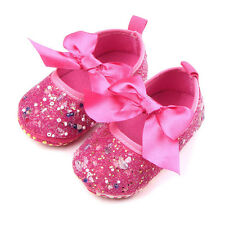 Baby Girl Princess First Walkers Mary Jane Baptism Pearl Diamond Bow Dress Shoes