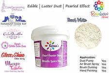 Shimmer | Luster | Dust |100 %Edible | Cake Craft | 25 Grams | Pearl White