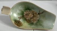 Vintage Kutani Porcelain Ashtray Pre Owned Hand Painted Pine Cone Toni Schulze