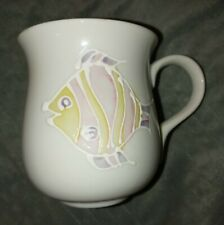 Takahashi Japan San Francisco teacup Mug tropical fish pastel white