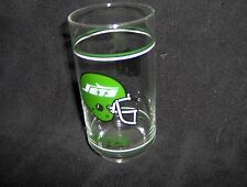 Vintage New York Jets Glass -Tumbler - 1980's Mobil Gas - NEW