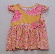 Baby Lulu Felt Flower Floral Yellow Top, 4T