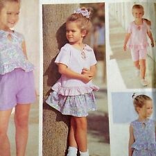 Easy Girls Summer Tops Shorts Skirt Pattern Simplicity 7850 Uncut Size 2-4 Play