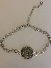 Denarius Of Otho Roman Coin WC20 Made From English Pewter on a Anklet / Bracelet