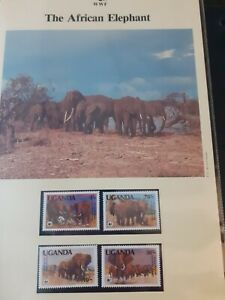 1983 UGANDA WWF Stamps, First Day Covers & Maximum Cards. 'The African Elephant'