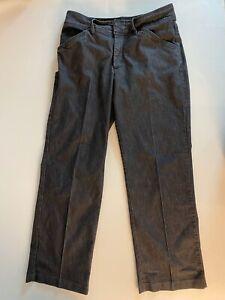 Women's Lee Natural Straight Leg Just Below the Waist Denim Gray Jeans Size 10M