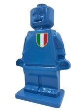 Scultura Ale Piano ALTEREGO Pop Art LEGO Azzurro Italia Resina AlePianoArt