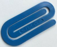 Vintage SUPER CLIP Giant Jumbo Primary Blue 1980s Office Paper