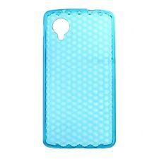 Housse Coque Etui LG Google Nexus 5 silicone gel Protection arrière - Bleu