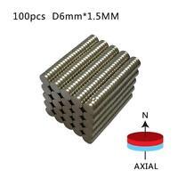 Strong Small Mini Disc Round Rare-Earth Neodymium Magnets 50/100PCS 6mm x 1.5mm