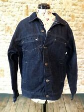 MENS BLUE DENIM JEAN JACKET RIVER ISLAND MEDIUM