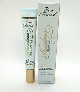 Too Faced Shadow Insurance 24+ Hour Anti Crease Eye Shadow Primer ~ 11 g / BNIB