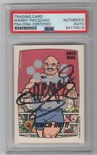 1989 Topps Nintendo Punch Out Manny Pacquiao Signed Auto Trading Card PSA/DNA C