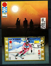 Umm Al Qiwan 1971 Winter Olympic Games Cto Used M/S #D47827