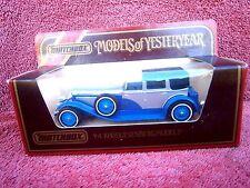 MATCHBOX MODELS OF YESTERYEAR Y4 1930 DUESENBERG MODEL 'J'  1984 UNOPEN BOX