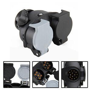 13 Pin to 7 Pin Trailer Light Board Extension Adaptor Plug Caravan Towing Van