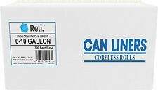 Reli. Trash Bags, 6-10 Gallon (Wholesale 300 count) (Clear) - High Density Rolls