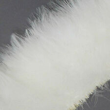 50 Bright White Good Blood Quill Marabou Turkey Feathers - US Seller