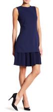 Theory Pleated Hem Dress Sea Blue NWT $395