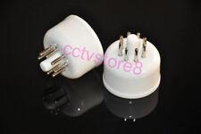 2pcs 8pin Ceramic Tube Base For GEC U52 KT66 Valve Socket HIFI audio amps New