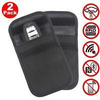 2X Modern Car Keyless Key RFID Signal Blocker theft Protector Case Faraday Purse