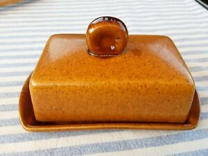 French vintage ceramic butter dish
