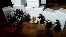 2010 Hawthorne Village 8 Piece Nativity Set The Light From Within Thomas Kinkade