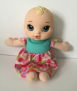 """Baby Alive Lil' Slumbers Blonde Baby Doll Open & Close Blue Eyes 11"""" Tall"""