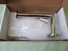 New Ginger 4606/PN Polished Nickel Kubic Post Open Tissue Toilet Paper Holder