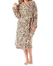Dreams & Co. Plus Size Animal Short Hooded Ultraplush Microfleece Robe Size 5X