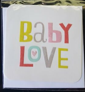 Hallmark: Baby Love:  Gift Tag With Envelope