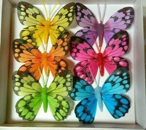 6  Schmetterling am Draht - Deko - Frühling Sommer