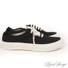 NWOB #1 MENSWEAR Doek Moonstar Black Canvas Cork Sole Simple Sneakers 9 NR WOW