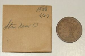 1856 LIBERTY BRAIDED HAIR LARGE CENTS 1C