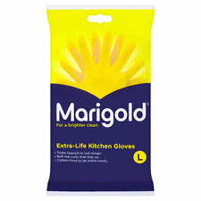 MARIGOLD KITCHEN GLOVES EXTRA LIFE KITCHEN RUBBER WASHING UP GLOVE YELLOW LARGE