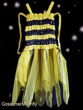 FAIRY DRESS & GARLAND - Bumble Bee Fancy Dress Costume - Large (4-6) - FREE POST