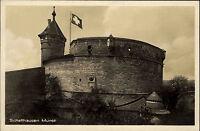 Schaffhausen Switzerland Suisse ~1920/30 Flagge Fahne Munot Festung ungelaufen